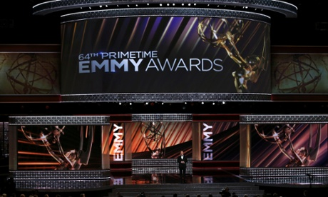 Jimmy Kimmel opens the show at the Emmys.