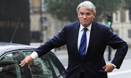 Andrew Mitchell, the chief whip speaks to the media as he arrives outside the Cabinet Office in Whitehall, London, on 24 September.