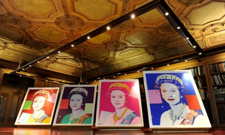 Andy Warhol's Reigning Queens portraits on show in the Lower Library at Windsor Castle, after being acquired by the Royal Collection. They will be displayed for the first time in the exhibition The Queen: Portraits Of A Monarch from November 23, at Windsor Castle.