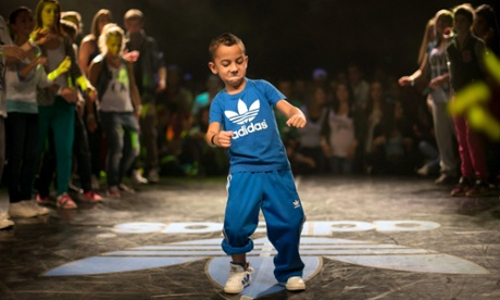 A boy performs in the third Budapest Guinness Street Dance competition in the Pecsa Music Hall in Hungary