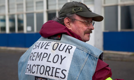 Remploy workers on strike
