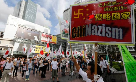 Japanese protest against China