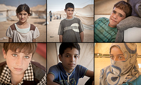 Child refugees describe life in Syria