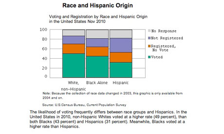 Voter registration by race - chart