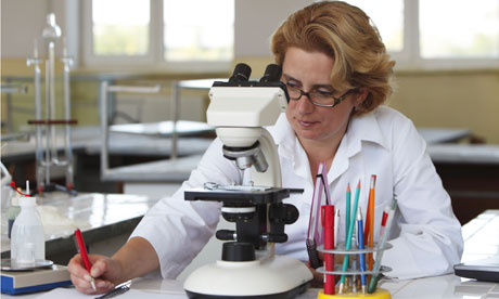 A female scientist