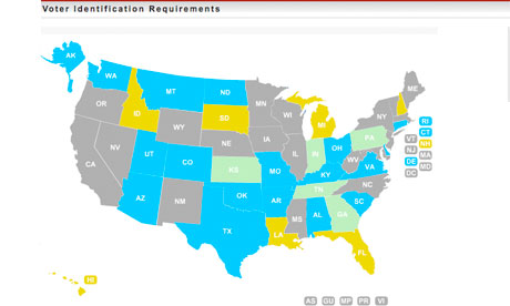 Voter ID Laws Map