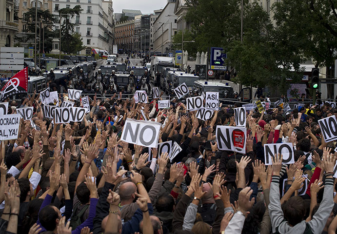 Madrid protests : Madrid anti-austerity protests