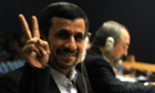 Enjoying the United Nations General Assembly Mahmoud Ahmadinejad, President of of Iran.