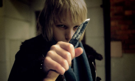 Kare Hedebrant as Oskar in the 2008 film Let the Right One In