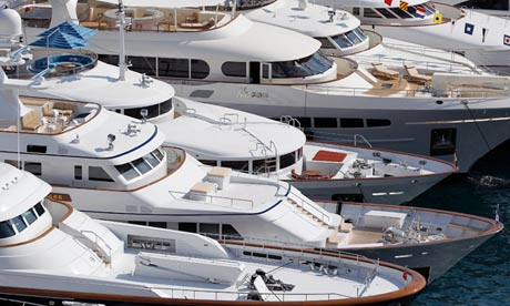 Yachts at the Monaco Yacht Show