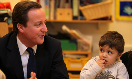 David Cameron Visits nursery run by London Early Years Foundation