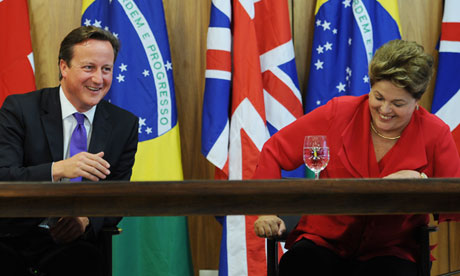 David Cameron and Dilma Rousseff