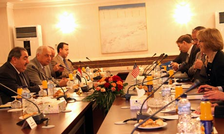 US Assistant Secretary of State for Middle East Elizabeth Jones visit in Baghdad