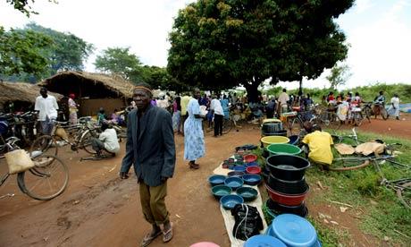 Katine market, Uganda