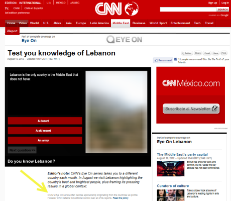cnn eye on lebanon