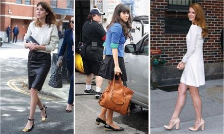 Alexa Chung, Zooey Deschanel and Lana Del Rey in stocky heels