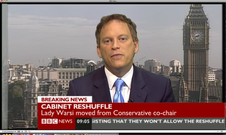 Grant Shapps on BBC News this morning