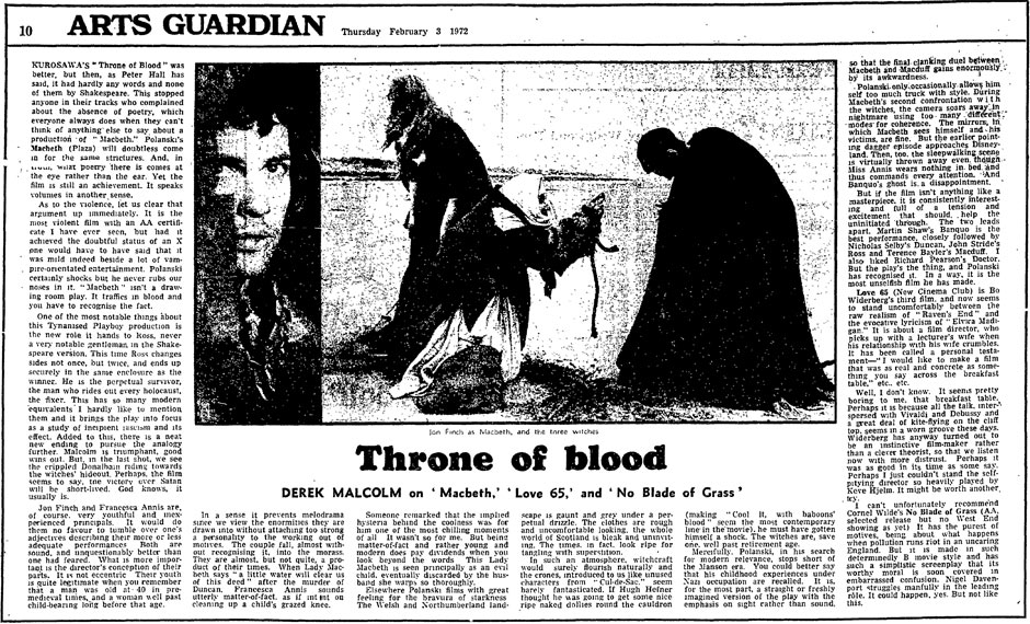 newspaper article adaptation of macbeth Cameron thomas tragedy in scotland (scotland) – in a tragic turn of events that occurred yesterday afternoon, macbeth, the king of scotland, has been killed by macduff.