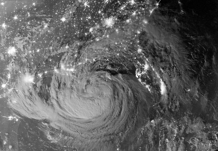 Satellite Eye on Earth: Tropical Storm Isaac by Night
