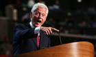Bill Clinton endorses Barack Obama for a second term with a speech at the Democratic convention
