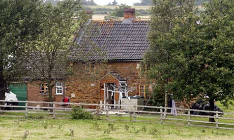 The farmhouse of Tracey and Andy Ferrie who used a gun to defend their home from intruders