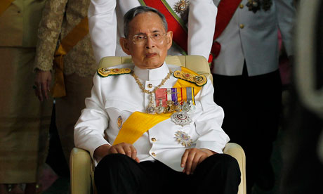 Thailand's King Bhumibol Adulyadej leaves from Siriraj Hospital to the Grand Palace in Bangkok