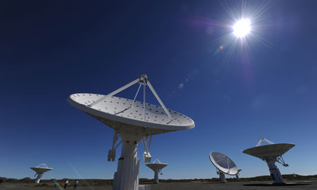 Part of the Square Kilometre Array under construction in Northern Cape province, South Africa