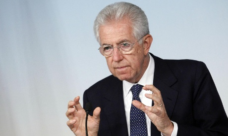 Italian Prime Minister Mario Monti speaks to the media during a news conference at the end of the Council of Ministers meeting at the Palazzo Chigi in Rome, 05 September 2012.