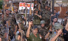 Syrian Syrian troops backing Bashar al-Assad, in Jdeideh, Syria