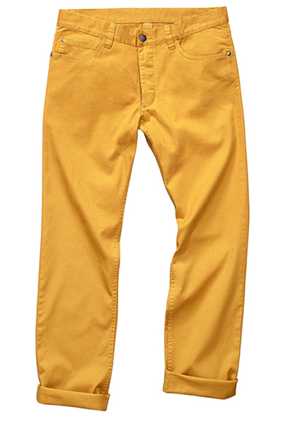 Fashion blogger Bip Ling: Mustard mens trousers