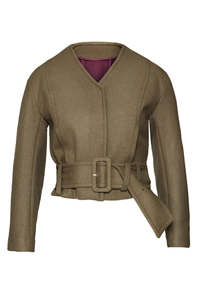 Fashion blogger Bip Ling: Khaki belted jacket