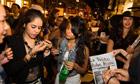 Crowds on Broadway at Fashion's Night Out