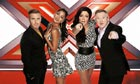 Judgment time: Gary Barlow, Nicole Scherzinger, Tulisa and Louis Walsh of The X Factor.