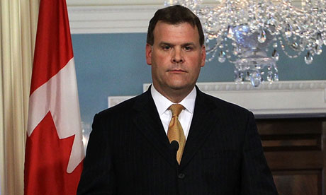 Canada's foreign minister John Baird announced the cutting of diplomatic ties with Iran