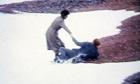 Neil Kinnock falls into the sea