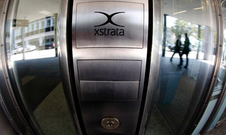 Corporate logo at Xstrata's headquarters