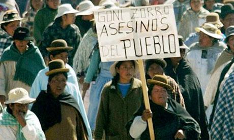 Gonzalo Sanchez de Lozada protest, 2003