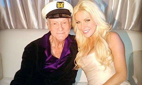 Hugh Hefner and his third wife, Crystal Harris, after their New Year's Eve wedding