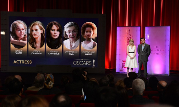 And the nominees for Best Actress are...announced today by Seth MacFarlane and Emma Stone at the Samuel Goldwyn Theatre in Beverly Hills, California. This year's Oscars will take place on February 24 and see Emmanuelle Riva, the oldest ever contender in this category at 85, up against the youngest ever – nine-year-old Quvenzhané Wallis, the star of Beasts of the Southern Wild. Find out more on the nominations.