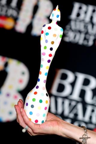 Brit Award 2013 designed by Damien Hirst