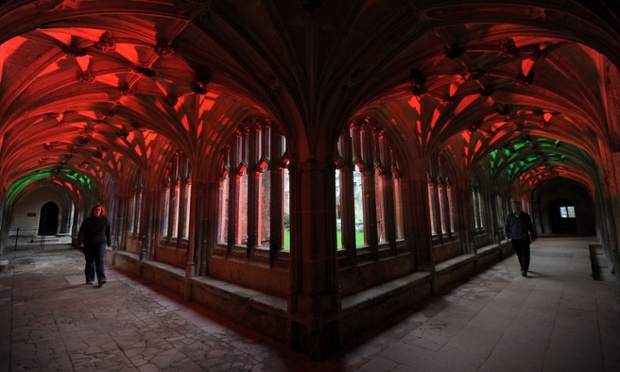 Lacock Abbey light festival