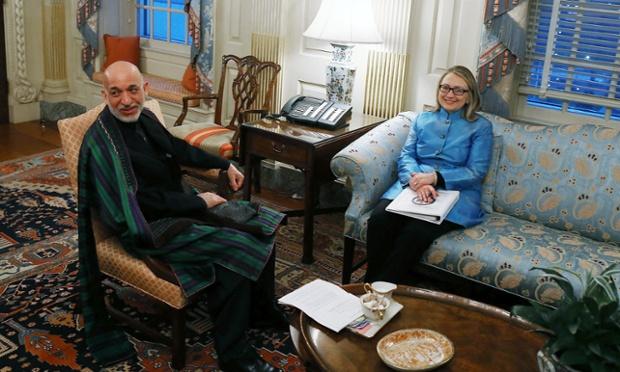 Secretary of State Hillary Clinton returns to work