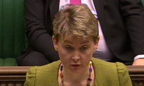 Yvette Cooper, the shadow home secretary, in the Commons on 8 January 2013.
