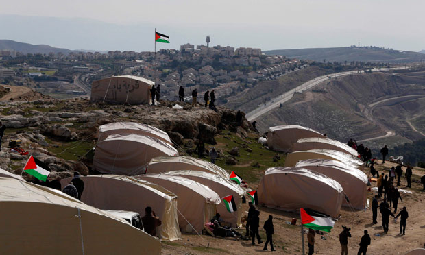 Tent village on hill Palestine ... & Tent image sources u2013 Meaning and Manipulation