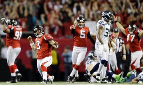 Atlanta Falcons kicker Matt Bryant vs Seattle Seahawks