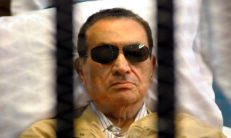 Former Egyptian President Hosni Mubarak in court last June during his trial on charges of failing to prevent the killing of protesters in the 2011 uprising that ousted him