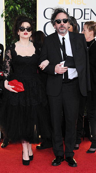Red Carpet Globes: Helena Bonham Carter and Tim Burton