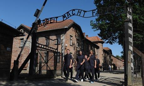 Soccer - UEFA Euro 2012 - England Team Visit Auschwitz Memoria