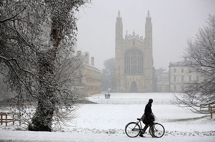 Snow over UK: Winter weather