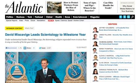The lessons of the Atlantic's Scientology 'sponsor content' blunder